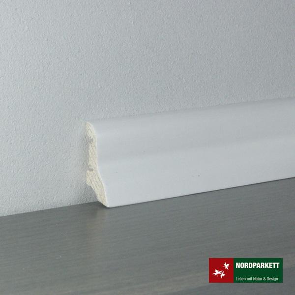 Sockelleiste 20 x 40 mm weiß lackiert