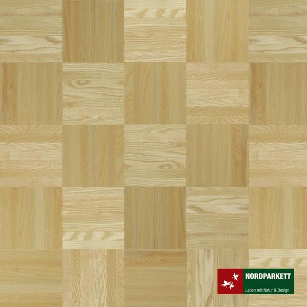 Mosaikparkett Esche Natur Würfelmuster 160 mm