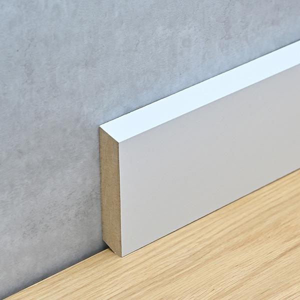 Sockelleiste 16 x 78 mm MDF weiß lackiert