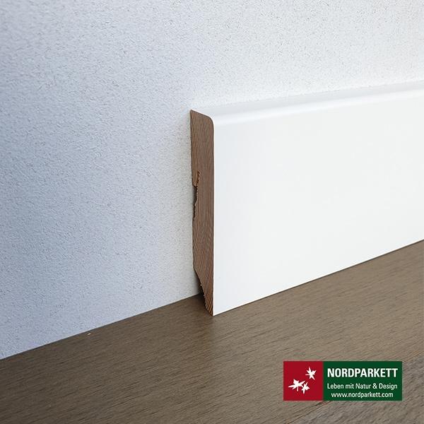 Sockelleiste 16 x 78 mm weiß lackiert