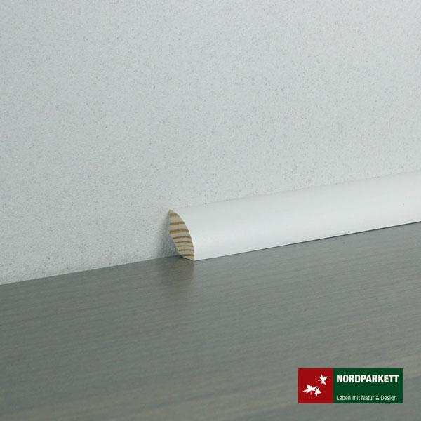 Sockelleiste 18 x 18 mm weiß lackiert