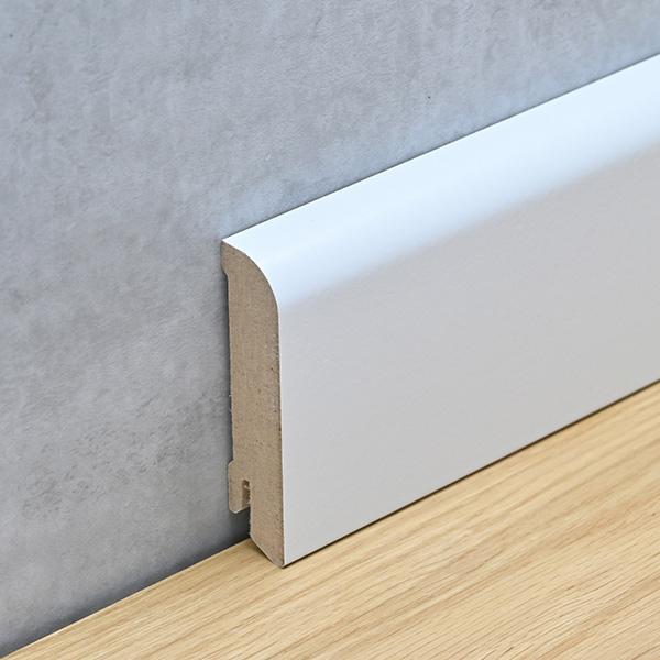 Sockelleiste 18 x 76 mm MDF weiß lackiert