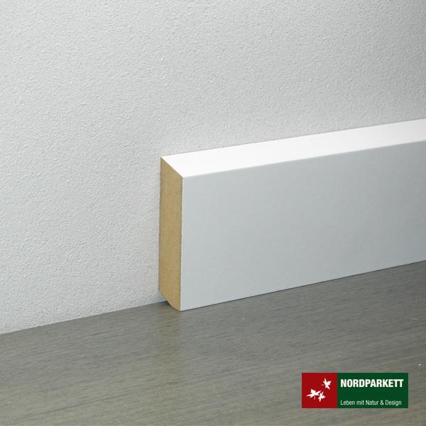 Sockelleiste 16 x 58 mm Kiefer weiß lackiert