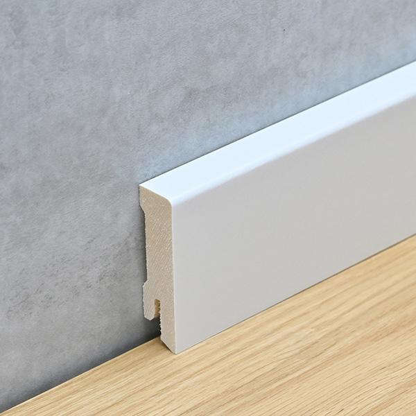 Sockelleiste 16 x 58 mm weiß foliert